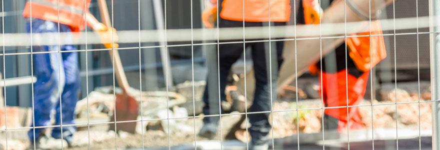 Importance de clôtures pour chantier